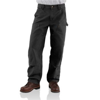 Men's Washed-Duck Double Front Work Dungaree