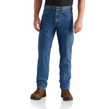 Men's Straight/Traditional-Fit Tapered-Leg Jean – Darkstone