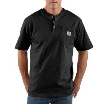 Men's Workwear Short-Sleeve Henley T-Shirt