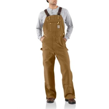 Men's Duck Zip-To-Thigh Bib Overall/Unlined - Carhartt Brown