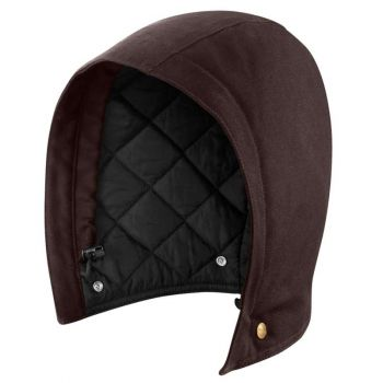 Quilt Lined Sandstone Hood – Dark Brown,S-XL