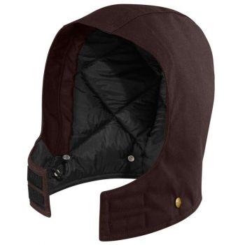 Arctic Quilt-Lined Sandstone Hood – Dark Brown,S-XL