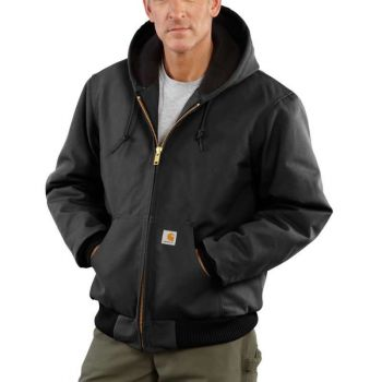 Men's Quilted-Flannel-Lined Duck Active Jac