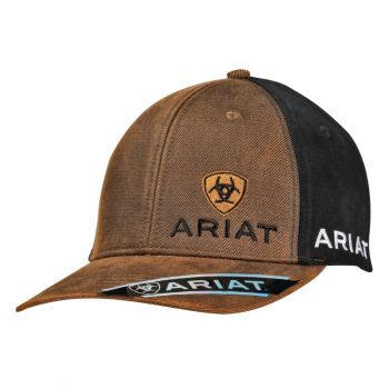 Signature Logo Brown w/ Black Snap Back Cap