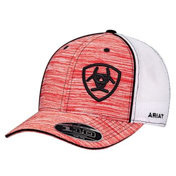 Flex Fit Baseball Red/Heather Cap
