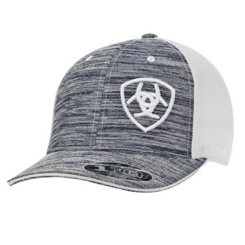 Flex Fit Grey/White Offset Logo Snap Back Cap