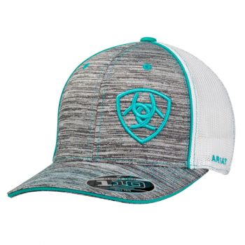 Flex Fit Grey/Teal Adjustable Snap Back Cap