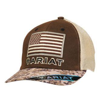Digital Camo US Flag Mesh Snapback Cap