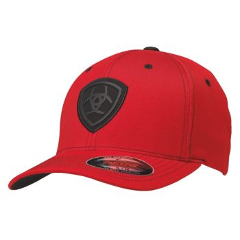 Red Flex Fit w/ Black Logo Cap