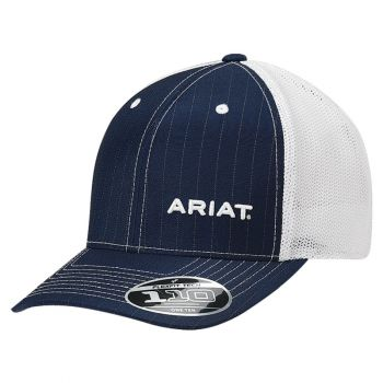 Blue/White Pinstripe Adjustable Snap Back Cap