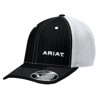 Black Pinstripe Adjustable Snap Back Cap
