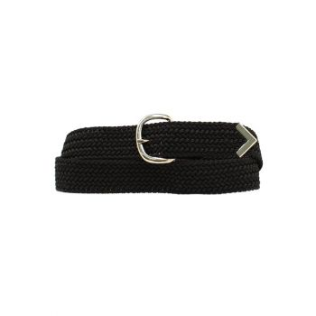Black Machine Woven Web Belt