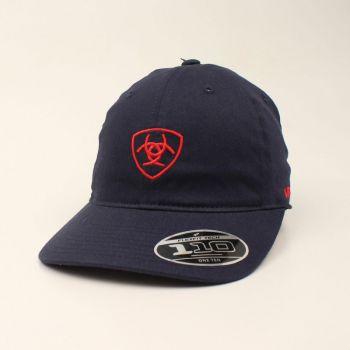 Navy/Red Cotton Twill Adjustable Cap