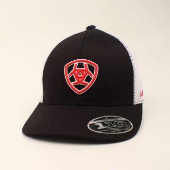 Black w/ Red Shield Logo Cap