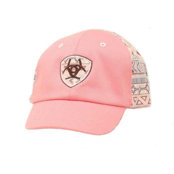 Infant Pink Aztec Center Shield Logo Cap