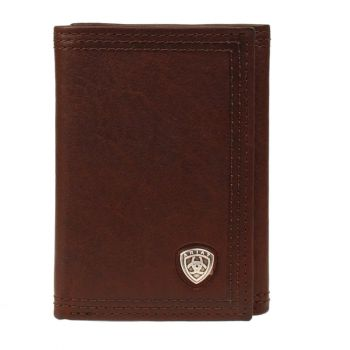 Dark Copper w/ Shield Concho Tri-Fold Wallet