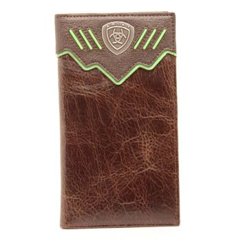 Leather w/ Double Overlay Contrast Lacing Rodeo Wallet
