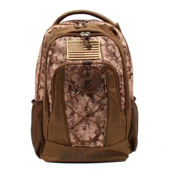 Digital Camo Bungee Front Backpack