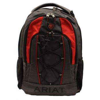 Gray/Red Bungee Cord Front Backpack