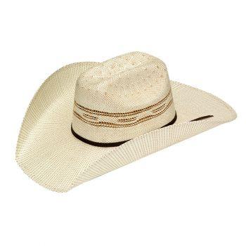 Tan Classic Bangora Straw Cowboy Hat