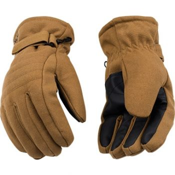 HydroFlector™ Brown Heavy Duck Canvas Ski Gloves