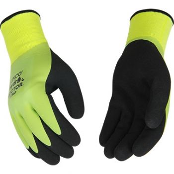 Hydroflector™ Waterproof Hi-Vis Green Lined Thermal Knit Shell & Double-Coated Latex