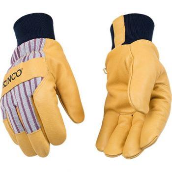 Lined Premium Grain Pigskin Palm With Knit Wrist