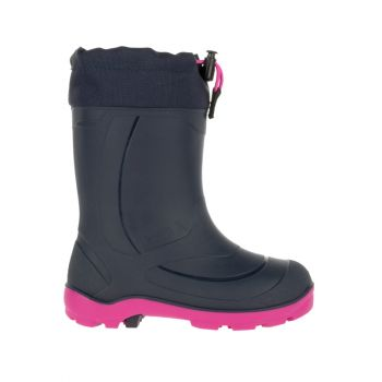 Kamik Youth's Snobuster1 Waterproof Boot, Navy/Magenta