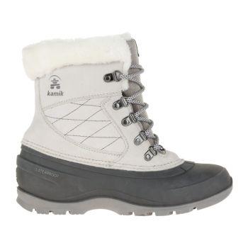 Kamik Women's Snovalley L Waterproof Boot, Light Grey