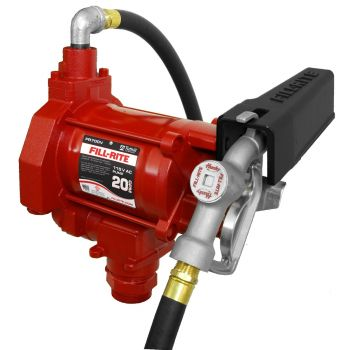 115V 20GPM Fuel Transfer Pump with Discharge Hose & Manual Nozzle