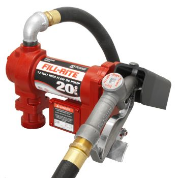 12V 20 GPM Fuel Transfer Pump with Manual Nozzle, Discharge Hose, Suction Pipe