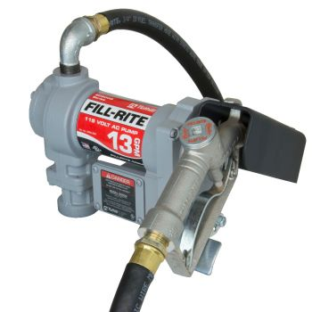 115V 13 GPM Fuel Transfer Pump with Discharge Hose, Adjustable Suction Pipe, Manual Nozzle