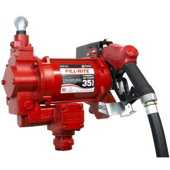 115/230V 35 GPM Fuel Transfer Pump with Discharge Hose, Automatic Nozzle