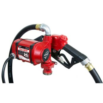 Nextec 25 GPM 12V/24V Continuous Duty Fuel Transfer Pump with Hose and Automatic Nozzle