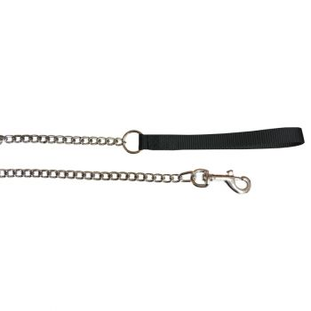 "48"" Medium Chain Lead w/ Nylon Handle, Black"
