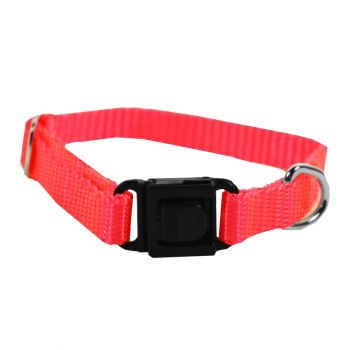 Adjustable Nylon Collar, Extra Small, Hot Pink