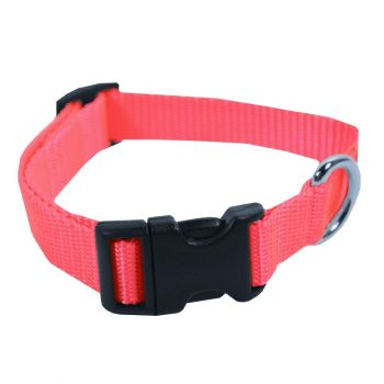 Adjustable Nylon Collar, Small, Hot Pink