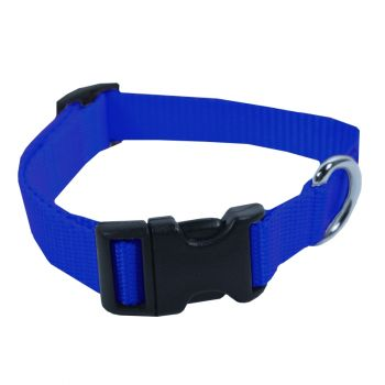 Adjustable Nylon Collar, Medium, Blue