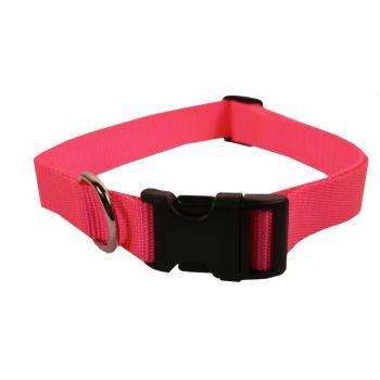 Adjustable Nylon Collar, Large, Hot Pink