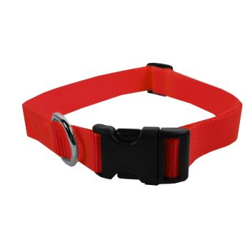 Adjustable Nylon Collar, Extra Large, Red