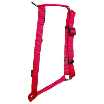 "Adjustable Harness, Extra Small, Hot Pink, 3/8""x8.5""-14"""