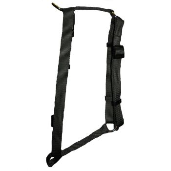 "Adjustable Harness, Large, Black, 1""x22""-38"""