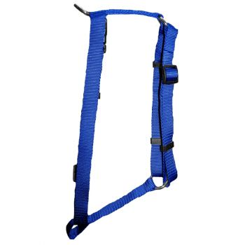 "Adjustable Harness, Large, Blue, 1""x22""-38"""