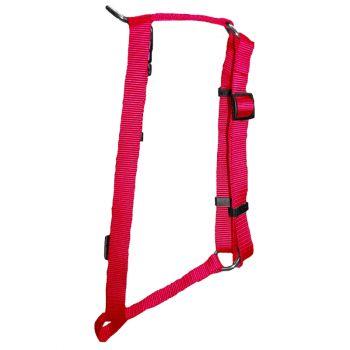 "Adjustable Harness, Large, Hot Pink, 1""x22""-38"""