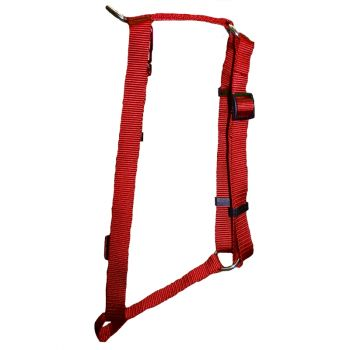 """Adjustable Harness, Large, Red, 1""""x22""""-38"""""""