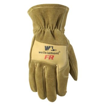 Men's Flame Resistant Leather Work Gloves, Cowhide (Wells Lamont 1011)