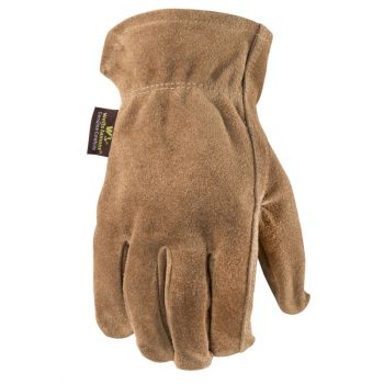 Men's Leather Work Gloves, Suede Cowhide (Wells Lamont 1012)