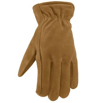 Men's Insulated Split Cowhide Winter Leather Work Gloves (Wells Lamont 1080)