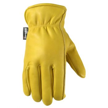 Men's Winter Leather Work Gloves, Thinsulate Insulation, Fleece-Lined (Wells Lamont 1108)