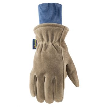Men's HydraHyde Insulated Split Leather Winter Work Gloves (Wells Lamont 1196)